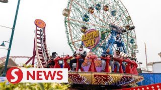 Coney Island amusement park reopens after Covid-19 shutdown