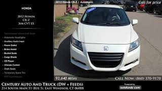 Used 2012 Honda CR-Z | Century Auto And Truck (DW + Feeds), East Windsor, CT
