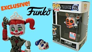 FNAF Lolbit Funko Pop Exclusive Sister Location #229, Unboxing, Toy Review, Stop-Motion Animation