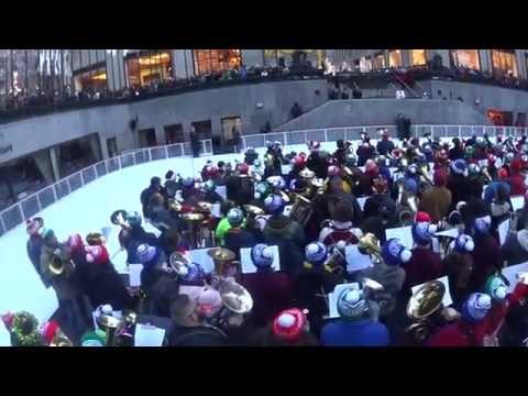 Tuba Christmas Rockefeller Center NYC, New York 2014 Tuba Cam