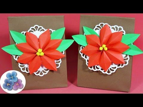 Bolsas de papel para regalo navidad 2015 manualidades con - Manualidades navidad papel ...