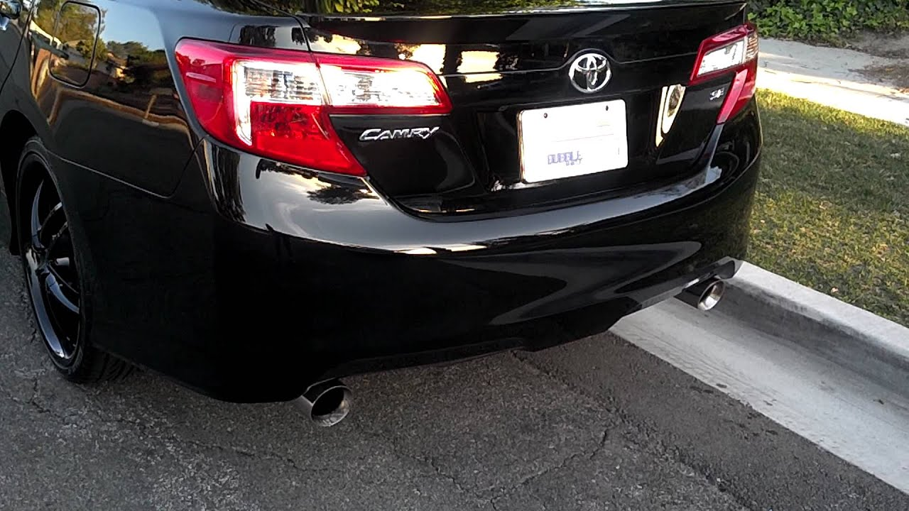 2012 Camry Se Flowmaster Exhaust Youtube
