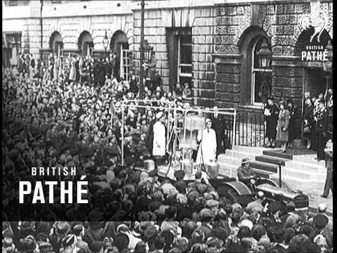 Princess Elizabeth Takes Salute Of 1000 Land Girls (1945)