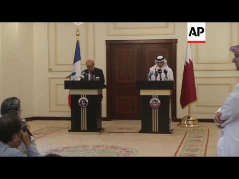 French FM calls for end of Qatar sanctions