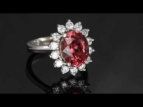 Garnet Ring With Rare Mahenge Pink Garnet 6.82 Carats