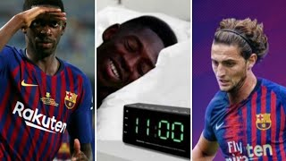 Dembele s'énerve et clashe sur Twitter, mendy le chambre, Rabiot barca,solskjaer à Manchester united