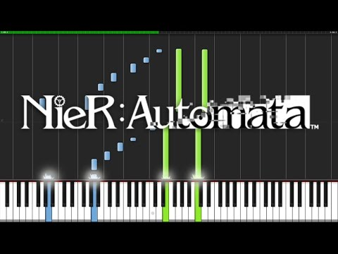 The Weight of the World - NieR Automata [Piano Tutorial] (Synthesia) // Arreglos para Piano