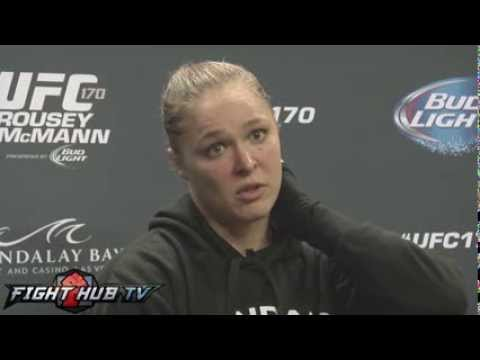 UFC 170 Ronda Rousey vs. Sara McMann full scrum- Mayweather, Latin America, Zigano, McMann's style