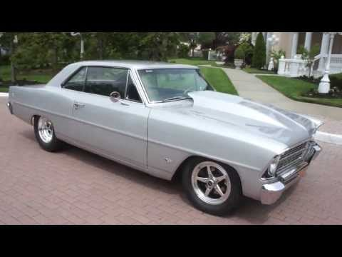 1967 Chevy Nova II SS Tribute For Sale~Fresh Silver Paint~327 w/ Fulie Heads~4 Speed Rock Crusher