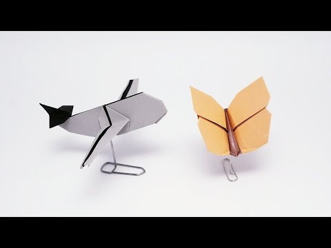 Paper Clip Stand For Origami