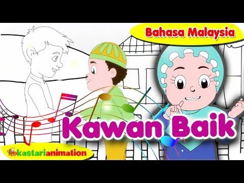 KAWAN BAIK (Bahasa Malaysia)   Nyanyian Anak Islam bersama Diva   Kastari Animation Official