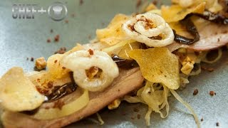3-Michelin starred Sven Elverfeld creates oyster and beef and char grilled pork belly recipes