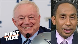 Can Jerry Jones resist drafting TE Kyle Pitts in favor of bolstering the defense?   First Take
