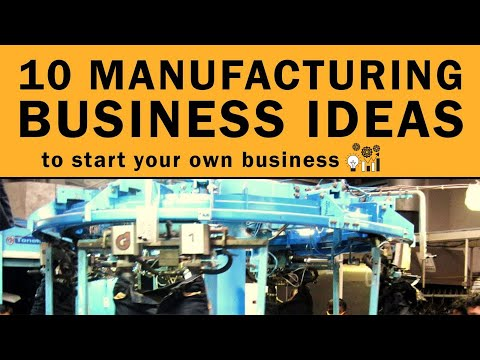 10 Manufacturing Business Ideas to Start Your Own Business in 2019