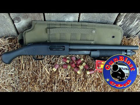 Shooting the NEW Mossberg 590 Shockwave 12-Gauge Pump Shotgun - Gunblast.com