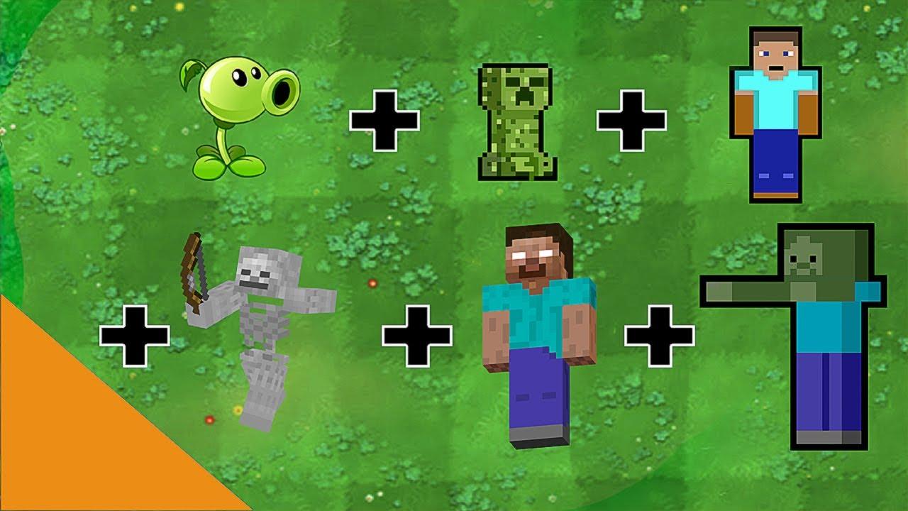 All NPC Minecraft + Peashooter - Plants vs Zombies Fusion Animation GW