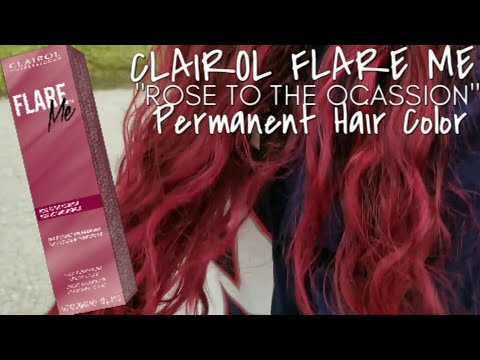 "Clairol Flare Me ""Rose To The Occasion"" Permanent Hair Color Tutorial"