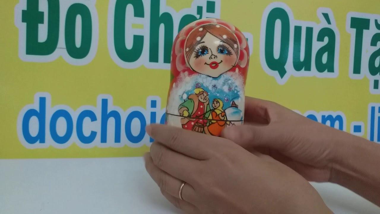 Đồ Chơi Búp Bê Nga 5 Con - dochoicaocap.com - YouTube