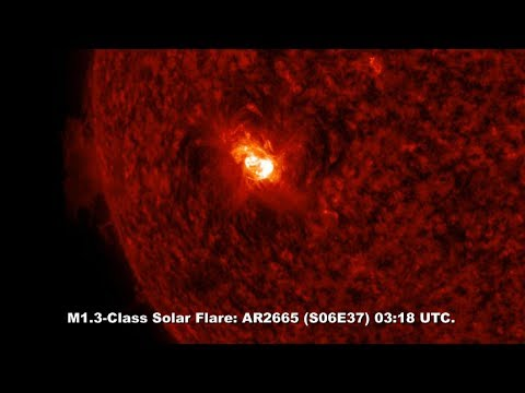 SOLAR ACTIVITY UPDATE: Big Sunspot Popping With Solar Flares. July 10th, 2017.