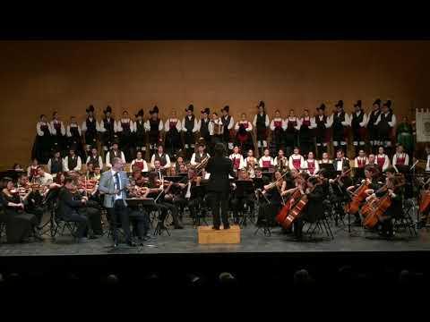 Gaitas e violíns mestúranse no concerto de Aninovo