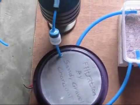 Filtration of water