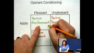 Repeat youtube video Operant Conditioning - Some Examples with Dr Z
