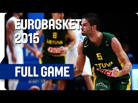 Italy v Lithuania - Quarter Final - Live Stream - Eurobasket 2015