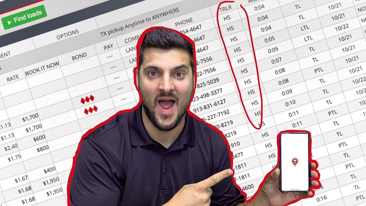 how I find loads, rules for success, truckstop com tutorial