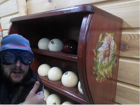 Полочки для бильярдных шаров.  Shelve for billiard balls