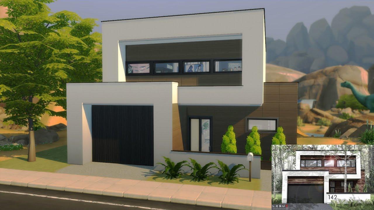 Maison moderne sims 4 construction sans cc youtube - Maison moderne construction ...