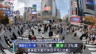 「勝負の3週間」も人出増 前週より約6割の地点で(2020年12月14日) - YouTube