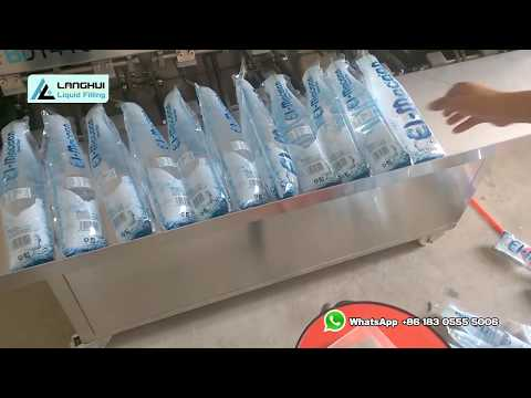 Sachet Drinking Water Filling And Sealing Machine For 500ml Bottle Shape