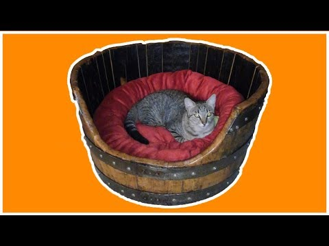 DIY: How to Make Pet Bed Out of Whiskey Barrel Planter