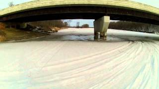 YFZ 450 trail riding in the snow