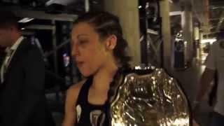 After the fight UFC 185 Joanna Jedrzejczyk Carla Esparza, Behind the scenes.