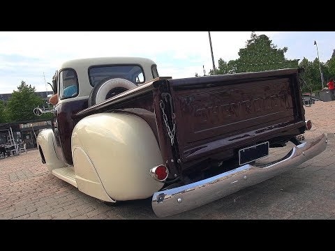 "CUSTOM Chevrolet 3100 ""Fat Fender"" Pickup - Overview and V8 Sound"