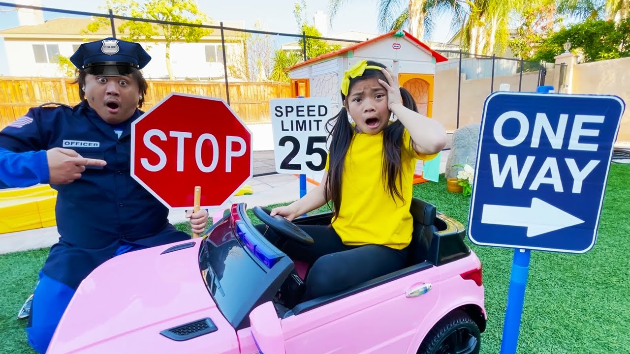 Download Emma Pretend Play Driving Ride On Car Toy & Learning Traffic Safety