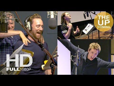 Tim Hiddleston, Eddie Redmayne, Maisie Williams recording Early Man voices – behind the scenes