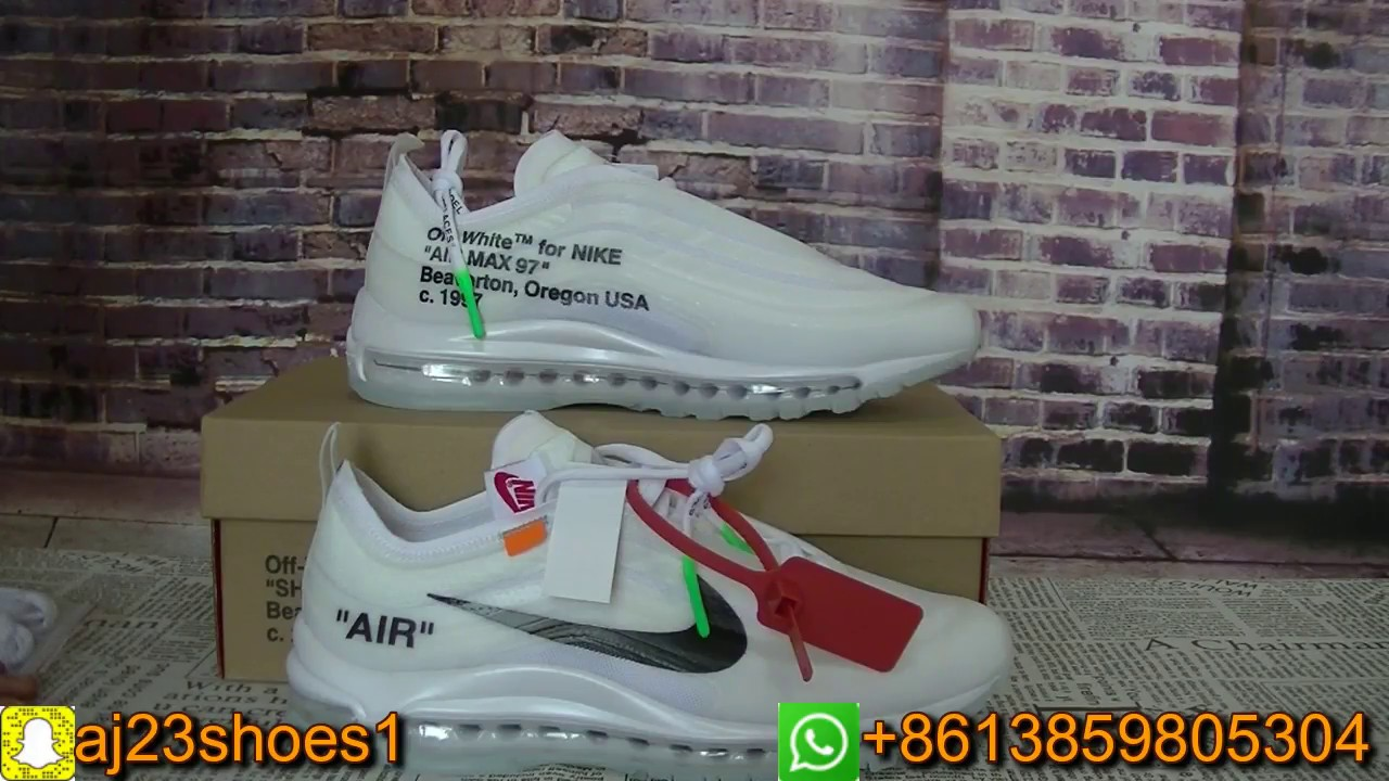 outlet store 197cb 97f45 OFF White x Air Max 97 EXCLUSIVE Review The Ten Unboxing