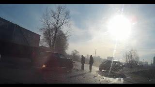 ДТП.  Поворот на Щиброво. Объезд закрытого переезда в Щербинке