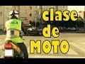 Clase práctica completa de moto. Carnet de moto A2. Conducir una moto.Manejar moto