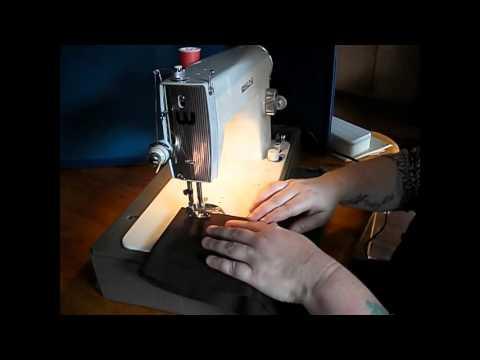 Beautiful White Model 40 Sewing Machine Demo Video YouTube Simple White Sewing Machine 1632