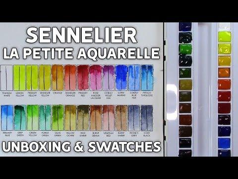 Sennelier La Petite Aquarelle 24 Half Pans