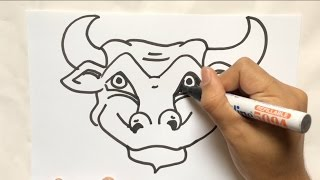 MUST WATCH : LEARN HOW TO DRAW BULL, HOW DIRTY IS YOUR MIND? FUNNY DIRTY DRAWING