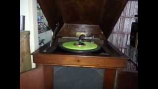 Edison Gramophone play self-made 78 rpm record 義勇軍進行曲