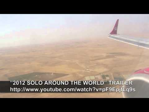 PAUL HODGE: CAIRO TO AMMAN FLIGHT, SOLO AROUND WORLD IN 47 DAYS, Ch. 125, Amazing World in Minutes