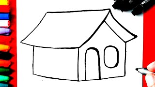 Como Desenhar uma CASA | Super Fácil