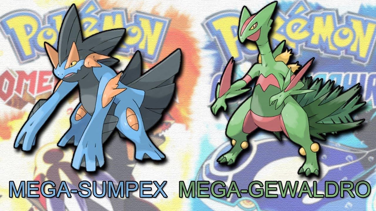 Pokemon omega rubin alpha saphir mega sumpex mega gewaldro rubin smaragd saphir remake - Pokemon saphir pokemon legendaire ...