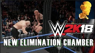 WWE 2K18 Exclusive Gameplay: New Elimination Chamber Match with OMG Spear