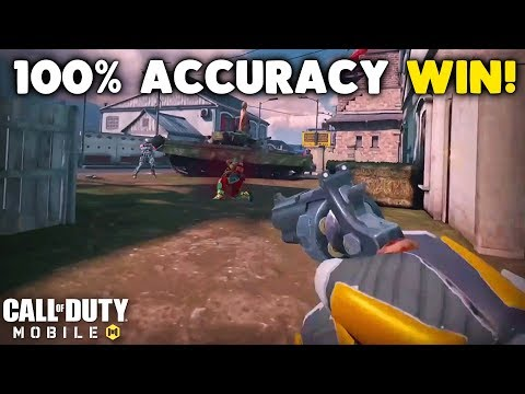 I Won a Match of Call of Duty Mobile with 100% Accuracy!